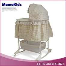 safety&comfortable Rocking baby swing and bassinet With Canopy And Brake Wheels