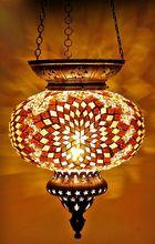 Turkish handmade glass mosaic lamps