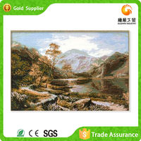 Zhejiang supply canvas oil paint scenery art acrylic diy diamond painting