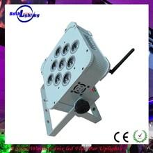 9*3w 3in1 rgb wireless dmx par/led flat par/flat led par can