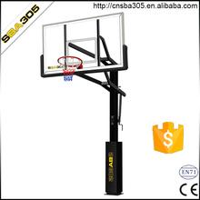 inground adjustable basketball hoops with backboard padding