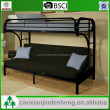 peculiar design easy assemble metal moon shape bunk bed