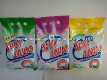 detergente en polvo estándar de la exportación de alta calidad