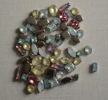 opal color acrylic sew on rhinestone claw setting for garment