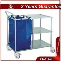 LG-ST011 Hospital 304 3-tier stainless steel linen trolley