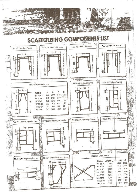 Scaffolding Parts And Terms : Scaffolding buy accessories product on