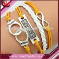 design de moda nova multicamadas algemas infinity pulseiras para o melhor amigo