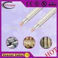 sm rg6 cable coaxial para 100 par de cable de teléfono de china