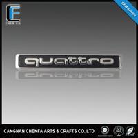 3D decorative ABS chrome plating quattro car brand logo badge emblem for audi