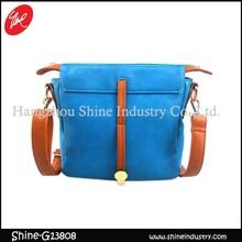 new arrival pu shoulder bag/blue cross body bag for ladies