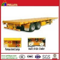20FT Container Transport Twin Axle Cargo Semi Trailer For Sale(20-53FT Optional)