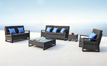6 seater Elegant style with Excellent Craftsmanship Wicker Patio Set with chairs and end table outdoor rattan sofa