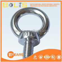 M10 stainless steel decorative lifting hook eye bolts