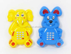 2 Design mini mobile telephone toys, Music plastic toy telephones with battery AL017338