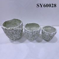 Brick like mini terracotta pots wholesale