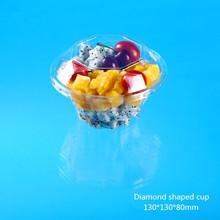 special diamond shape plastic fruit cup