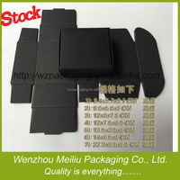 STOCK packing kraft paper box black white brown color with various size