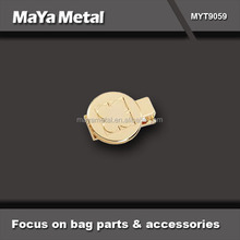 custom high quality rose gold alloy metal logo label for handbags