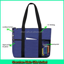 Trendy travel tote bag, zipper top tote sports gym bag