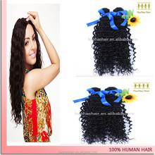 Hot vente meilleur prix cheveu humain crépus bouclés gros cheveux dominicaine produit