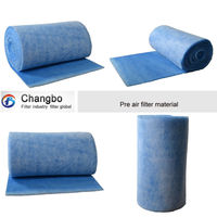 polyester pre-filter/air filter roll/spray booth pre filter roll