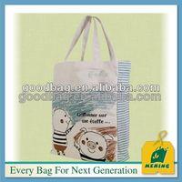 custom made cotton canvas sling cross body plain tote bag
