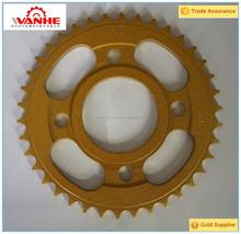 Yellow zinc Motorcycle sproket and chain kit CG125