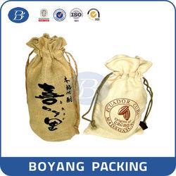 Custom printed wine bottle bag