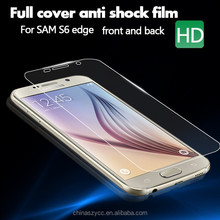 wholesale price clear screen film for samsung galaxy S6 edge full cover free sample screen protector for s6 edge to edge