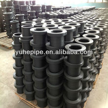 imported raw material high quality HDPE pipe fitting 50-110mm flange
