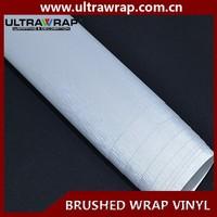 Ultrawrap 1.52x30 meter bubble free best quality silver brushed metal vinyl wrap