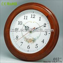 Mode 12 polegadas ronde en bois coucou horloge à vendre
