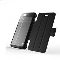 2015 Newest Solar Panel Battery Back Cover Flip Leather Phone Case For iPhone 6 with Switch with Power Indicator Light
