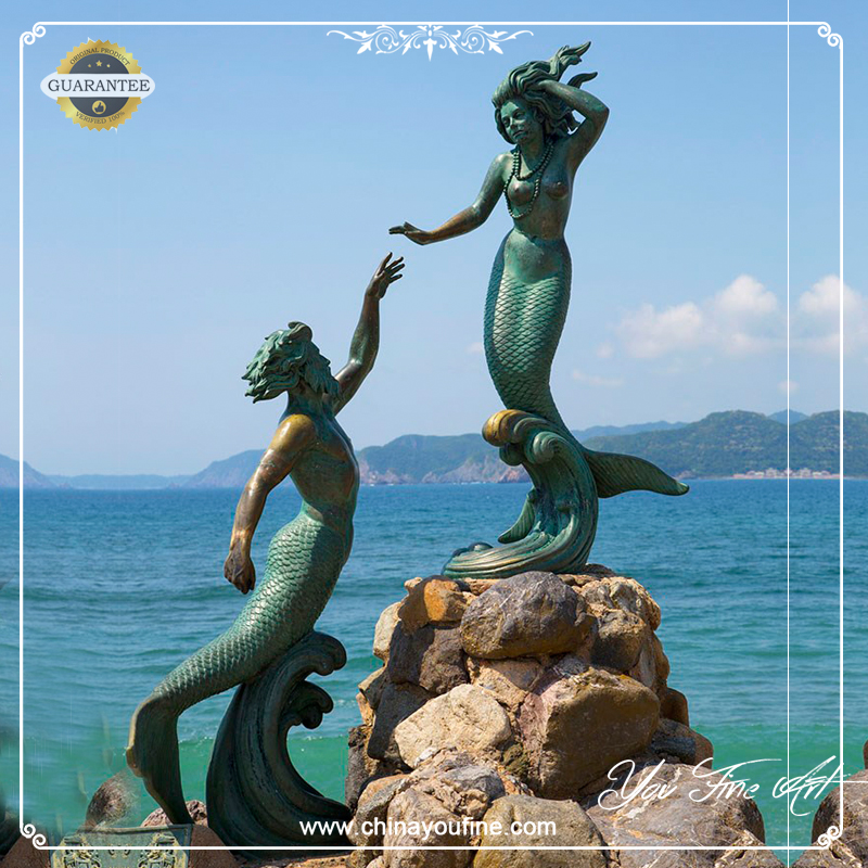 Bronze Mermaid Statue