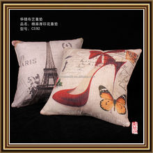 100% linen printing wholesale and customize cushion covers