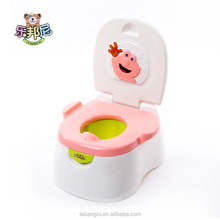 hot- sell 3 in1 Multi-functional Plastic Tomas baby potty/ baby toilet/adult baby toilet seat PINK