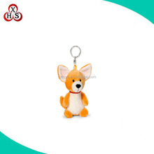 hot sale fox stuffed plush keychain