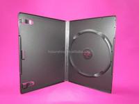 7mm 14mm black media single double storage DVD case