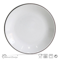 10.5inch Dinner plate/Dinnerware/tableware two-tone color in gray and white