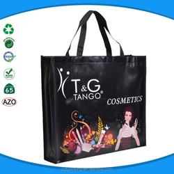 Custom picture printing recycle laminated promotional reusable shopping bag