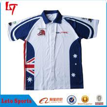 Customized sublimation formula 1 shirt kawasaki motocross jersey
