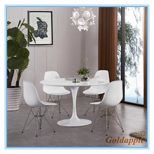 Modern Dining Table Tulip Fiberglass Base Glossy Painted MDF Top Table GA6003T