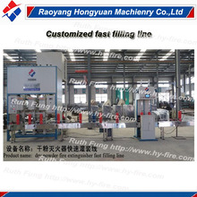 dry powder fast filling line for fire extinghuisher/ dry powder automatic fire extinguisher filling line