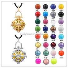 Merryshine Wholesale Hot Styles Pure Handmade Gold Harmony Leather Necklace Bali De Bola Angels Pendants H158A04