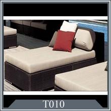 rattan sofa bed Comfortable rattan wicker lounger