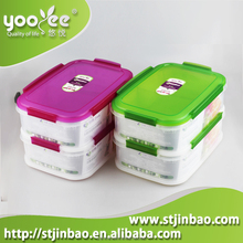 Plastic Material and Eco-Friendly Feature Plastic Food Container with Divider