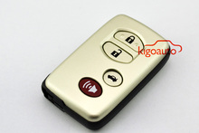 Smart key case replacement 3 button panic key shell for Toyota