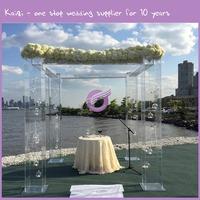 k6557 lighted crystal decorative acrylic wedding columns wholesale