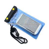 Fashion cell phone waterproof PVC Dry Beach Pouch/bag for summer Water sports with earphone jack