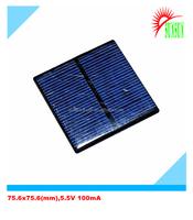 PET laminated 75.6x75.6 5.5V 100mA solar panel